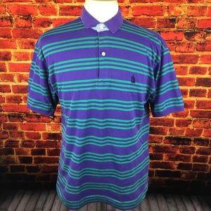 Vintage Nautica Striped Polo Shirt